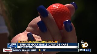 Golf ball damage frustrates National City residents next to course