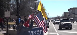 Small protest in Carson City ahead of the inauguration