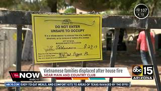 Eleven displaced after house fire in Mesa - Video