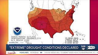 """Extreme"" drought conditions declared"