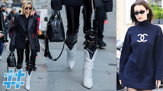 Oversized Sweater & White Boots Take Over Fall Fashion | Trending Topics