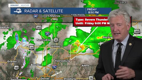 Severe storms in northeast Colorado produce 2-inch diameter hail