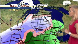 Snow coming for Monday - Video
