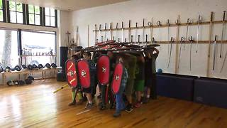 Kids Form Roman Legion at Summer Camp - Video