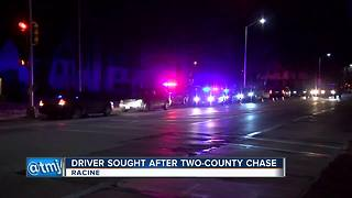 Driver wanted after police chase through two counties - Video