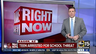 Teen arrested after threat to Eagar school