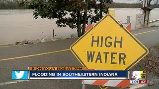 Flooding in southeastern Indiana - Video