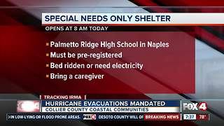 Collier County hurricane shelters to open Friday afternoon - Video