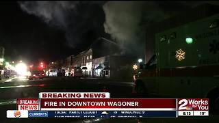 Morning Fire in Downtown Wagoner - Video