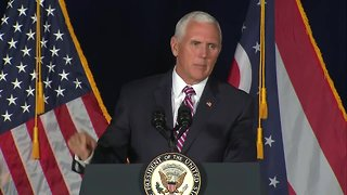 Vice President Pence joined by Mike DeWine and Troy Balderson at 'Get out and vote' rally - Video