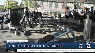 Tier move forces San Diego gyms to operate outdoors