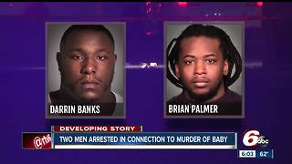 Two men arrested in connection with 1-year-old's death
