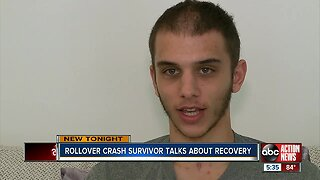 19-year-old survivor of terrifying rollover hit-and-crash makes miraculous recovery