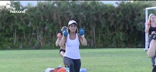Florida gym moves workouts outdoors