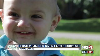 Foster families given Easter surprise