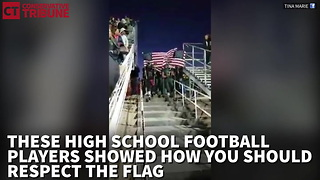 Football Team Puts Anthem Protesters To Shame When Each Member Walks Out Carrying Flag - Video