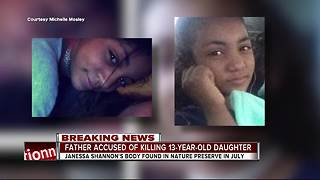 Father arrested for murder of 13-year-old Riverview girl - Video
