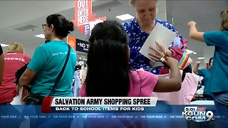 Salvation Army takes kids in need on shopping spree