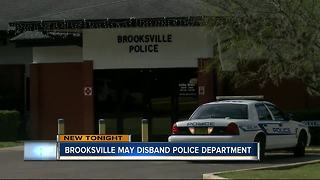 Brooksville may disband police department - Video