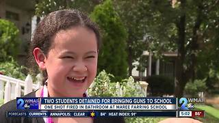 Students detained after gun fired in Baltimore elementary school