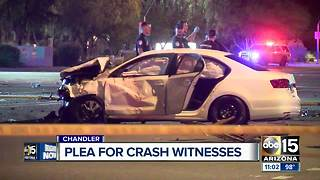 One dead after Chandler crash, officers looking for witnesses - Video
