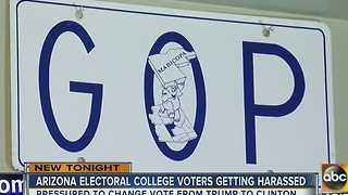 Arizona electoral college members harassed - Video