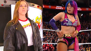Ronda Rousey CRASHES Asuka's 2018 WWE Women's Royal Rumble Celebration - Video