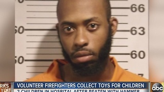 Volunteers collect toys for children injured in hammer attack - Video