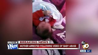 Mother arrested after video shows 'abuse' - Video