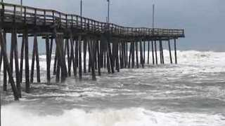 Stormy Morning at Jennette's Pier in Nags Head - Video