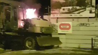 Excavator Burned in Nantes as Clashes Over Fatal Traffic-Stop Shooting Continue - Video