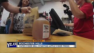 Yates Cider Mill begins pressing for cider on Friday - Video