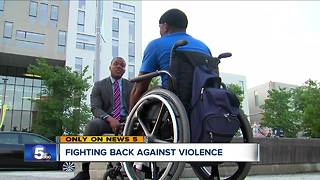 Local man fighting against violence - Video