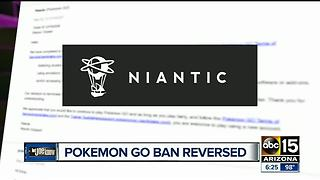 Pokemon Go app lifts ban against Valley man - Video