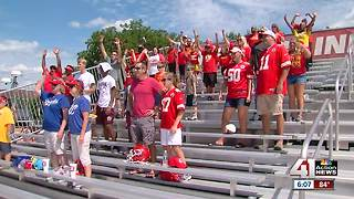 Fans arrive to watch Chiefs practice