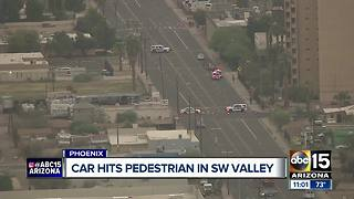 Woman dead after being hit by vehicle in Phoenix - Video