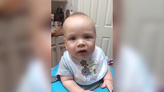 Baby Tries Bananas for the First Time