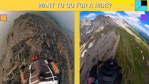 Extreme mountain biking is scary and oddly satisfying at the same time