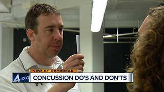 What you should and shouldn't do if you get a concussion