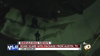 Bomb scare with package from Austin, TX