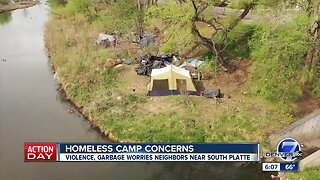 Residents complain about homeless camps along South Platte River: 'There's garbage everywhere'
