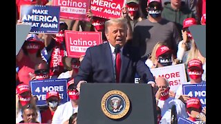 President Donald Trump holds rally in Bullhead City after visit to Las Vegas