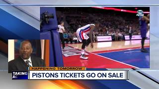 Pistons announce ticket sales - Video