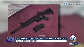 Palm Beach County deputy whose AR-15 was stolen faces reprimand