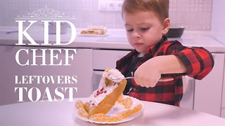 Kid Chef: How (not) to make leftover eggy bread - Video