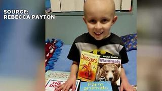 Mother keeping sons memory alive by giving books to sick children - Video