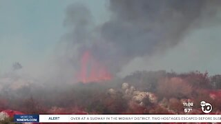 Brush fire near Palomar College