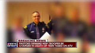 Detroit pastors demand charges against MSP trooper in death of teen on ATV - Video