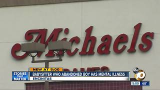 Babysitter accused of abandoning boy has mental illness - Video