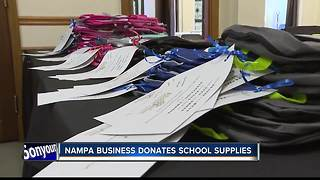 Canyon County business man donates school supplies - Video